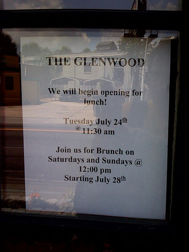 Glenwood announces lunch and brunch